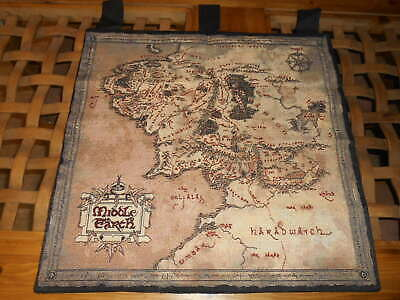 """Middle Earth Tapestry - Lord of The Rings - 27"""" by 27"""" - USA"""