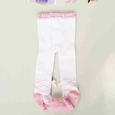 Cute Kids Girls Bowknot Lace Cotton Leggings Elastic Stockings Princess Pants Wi