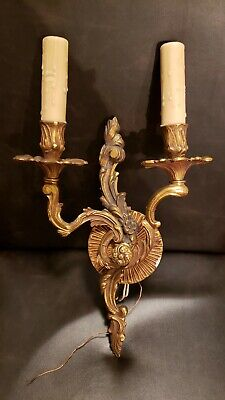 Antique BRASS WALL  SCONCE very old