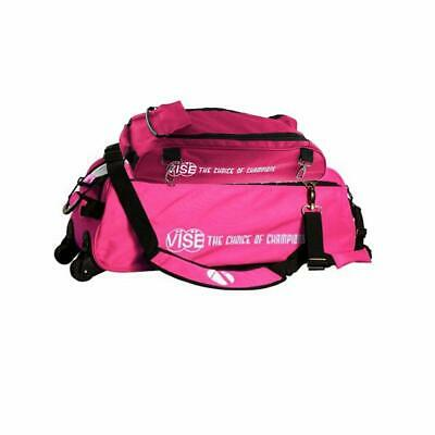 VISE 3-BALL TOTE with SHOE BAG PINK BOWLING BAG