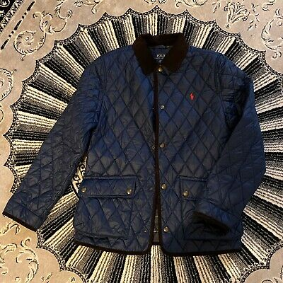 Polo Ralph Lauren quilted Navy Coat jacket - Boys 14 - 16 - Fits Small Mens S