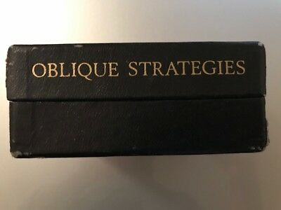 OBLIQUE STRATEGIES  Brian Eno / Peter Schmidt 1st EDITION 1975 numbered/signed !