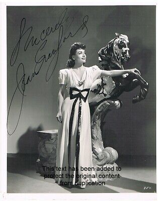 Joan Crawford Photo Hand Signed Autograph 8x10 MGM #850 Jack Ewing Collection