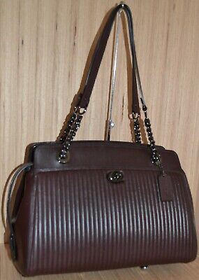 NWT Coach Quilted Parker Carryall Tote Leather Handbag Black//Brass 35576