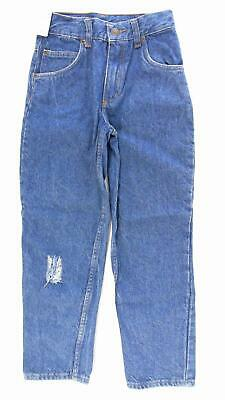 BullsEye Boys size 12 Cotton Medium Wash Regular Fit Straight Leg Jeans CHOP