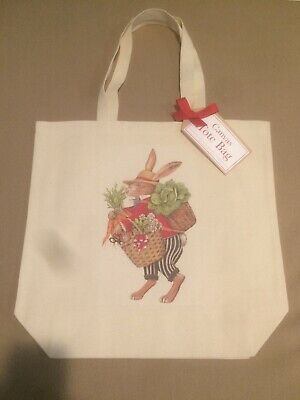 Canvas Tote Bag Mary Lake Thompson Rabbit with Vegetables