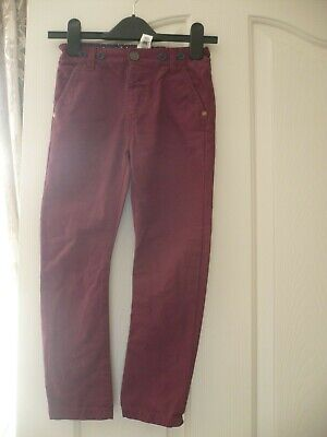 Boys NEXT skinny jeans with detachable brace, dark red (wine) age 4-5 worn once