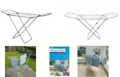 New 18M Winged Clothes Aires  Dryer Rack Folding Washing Line Indoor & OUT DOOR