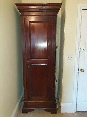 Reproduction solid Mahogany single Gentleman's wardrobe