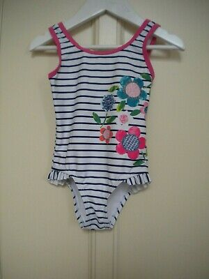 George Girls' Multi Striped and Floral Swimming Costume Age 18-24 Months