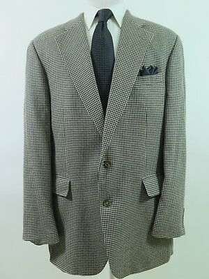 Polo Ralph Lauren Men's Silk Wool Houndstooth Blazer Jacket Sport Coat 44 L EUC