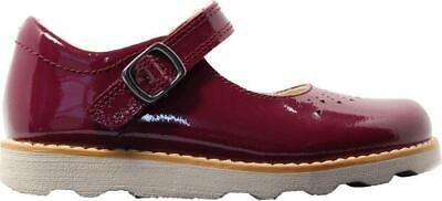 Clarks Crown Jump Toddler Plum Patent Leather Girls  Mary Jane Shoes
