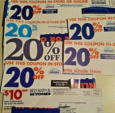 Bed, Bath & Beyond Coupons- $10 off $30 & (6) 20% off a single item coupons-