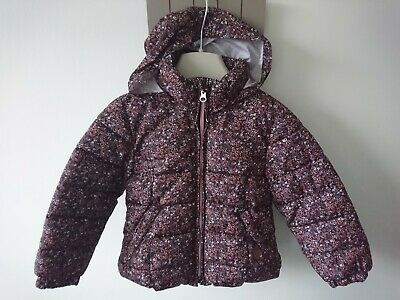 Mango girl padded detachable hood jacket 3-4 years excellent condition