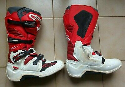 Bottes motocross Alpinestars Tech7 Rouge / Blanc Occasion 47EU / 12US
