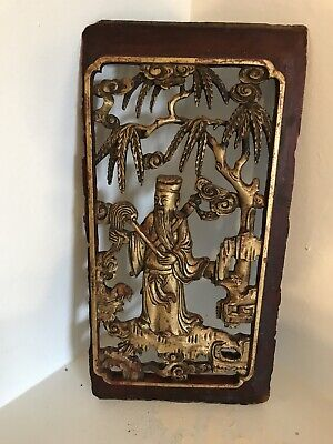 Antique Chinese Wood Carving Gilded Color