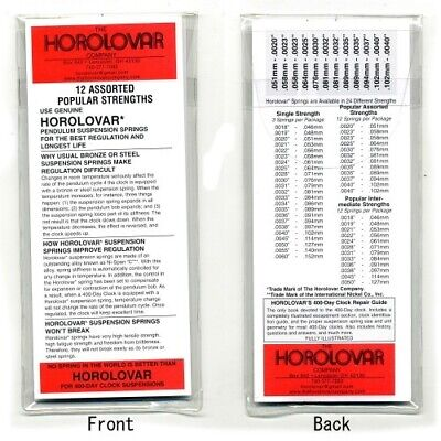 Horolovar 400 Day Clock Suspension Wires Assortment 12 Pcs Intermediate - CY201