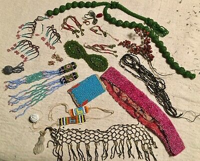 Antique Beads, Beaded Pieces, 1800's, Art Study Jewelry Design Collections
