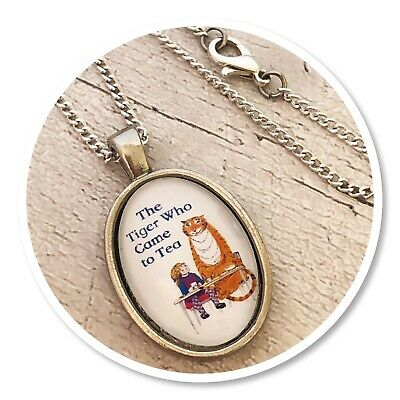 The Tiger Who Came To Tea pendant necklace
