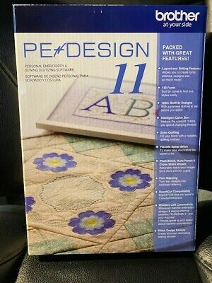 BROTHER PE DESIGN 11 Machine Embroidery Software FULL VERSION NEW/UNOPENED