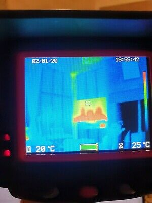 Tough rugged Thermal image camera + 3 battery's carry bag