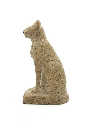 Beautiful Vintage hand carved Sandstone Egyptian cat in wonderful condtion