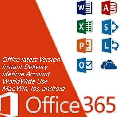 Microsoft Office 365 - 2019 Lifetime, 5 pc 5 TB.
