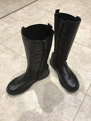 John Lewis Girls Tall Leather Boots Size 32 / 13.5