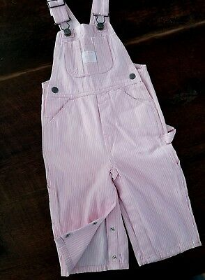 Baby Girl's Overalls ~ Pink & White Striped Denim LAKIN MCKEY TRADING CO. 12 M