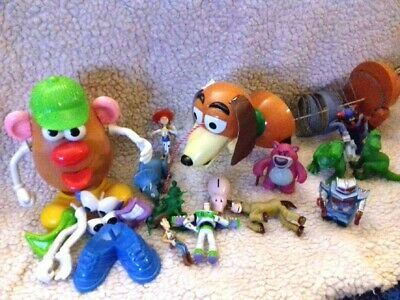 Toy story bundle, slinky dog, Mr potatoe head woody, buzz light year, rex