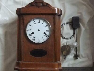 Antique Wood Clock Case,Dial, Gong Pendulum