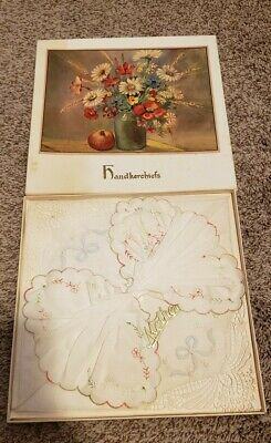 Vintage Set of Mother Hankies Handkerchiefs w/ box NOS Unused New Old Stock