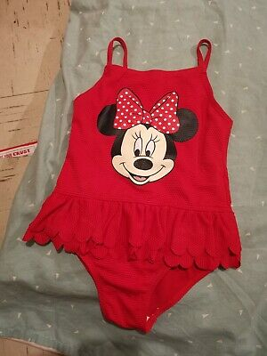 Girls Disney Minnie Mouse Swimsuit 5-6 Years