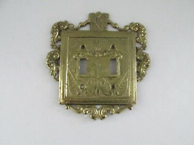 Virginia Metalcrafters 24-18 Brass Ornamental 2 Light Switch Plate Cover