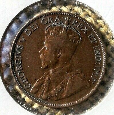 1916 XF Canadian 1 Cent Large Penny .
