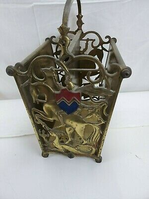 Cast Iron Paper Magazine Stand Rack Gothic Knight St George Horse Slaying Dragon