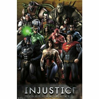 """Injustice Gods Among Us Grid Poster 22.375"""" x 34"""""""