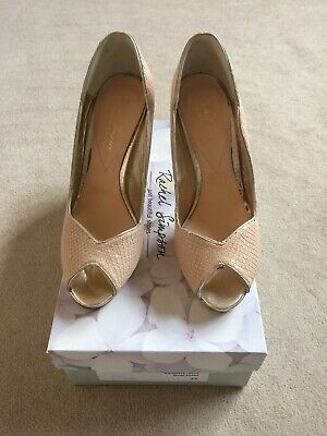 Leoni Rachel Simpson Wedding/Glamour Shoes In Nude snake colour. Size 4 (37)