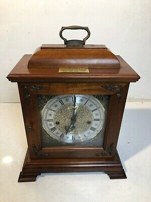 vtg hamilton wooden award clock gm Mantle Key Chime Chevrolet Flint Mi 25 Yr Car