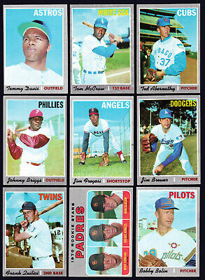 1970 Topps lot of 44 different semi-high & high #'s 559-708 VG/EX to NM