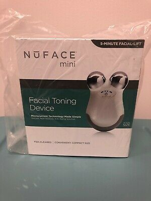 NuFace Mini Facial Toning Device w/ Microcurrent Technology Anti Aging NEW