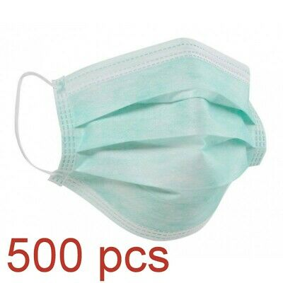 500pcs Disposable Surgical Face Dust Mask Respirator Medical Virus Protective