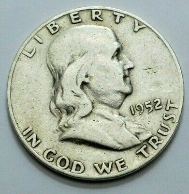 1952-D  Franklin Half Dollar US COIN 90% silver 50c , NO RESERVE $!