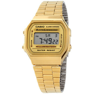 Casio Vintage Quartz Movement Gold Dial Unisex Watch A168WG9UR **Open Box**