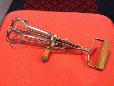 Vintage Swift Whip Rotary Hand Beater Egg Whisk Stainless Steel - Made in Aus