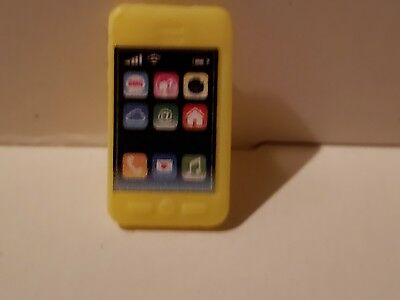 Barbie Doll Accessory Yellow Smart Phone For Diorama