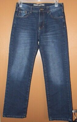 Ring of Fire Boys Denim Blue Jeans - Size 16 Slim Fit - NWOT