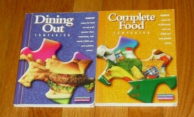 Weight Watchers Complete Food Companion and Dining Out Companion Books 2002