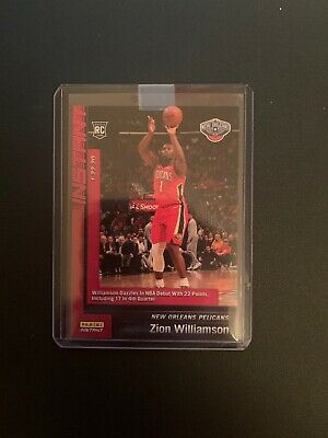 2019-20 Zion Williamson #76 RC Panini Instant NBA Debut Rookie Card