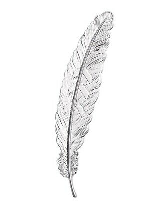 Beautiful Vintage Inspired Silver Metal Feather Bookmark. Great Gift Idea